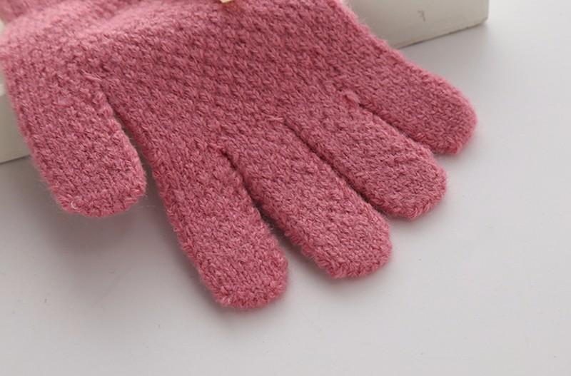 Cute Children Girls Gloves Knitting Pattern Warm