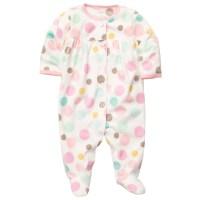 Carter's Original Baby girl's newborn microfleece pink dot ...
