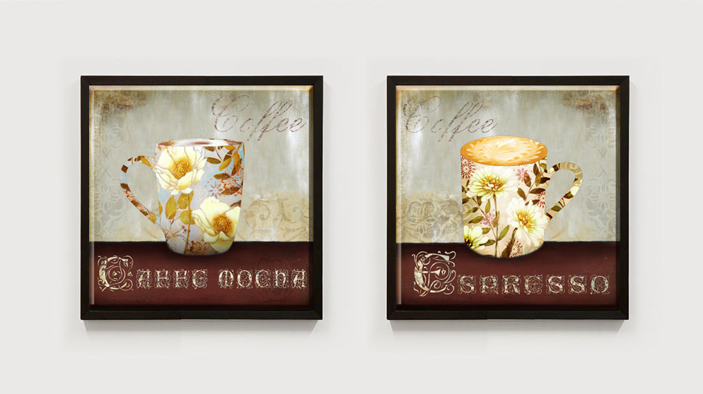 71840a7686f 2 piece 2015 Non-woven american style wall painting pictures wall art still  life flowers in cup canvas art home decor