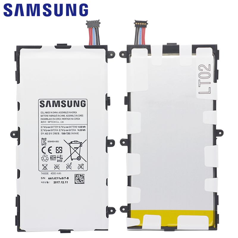 SAMSUNG Tablet Battery T4000E For Samsung Galaxy Tab3 Replacement Battery  7 0 T210 T211 T2105 T217a 4000mAh