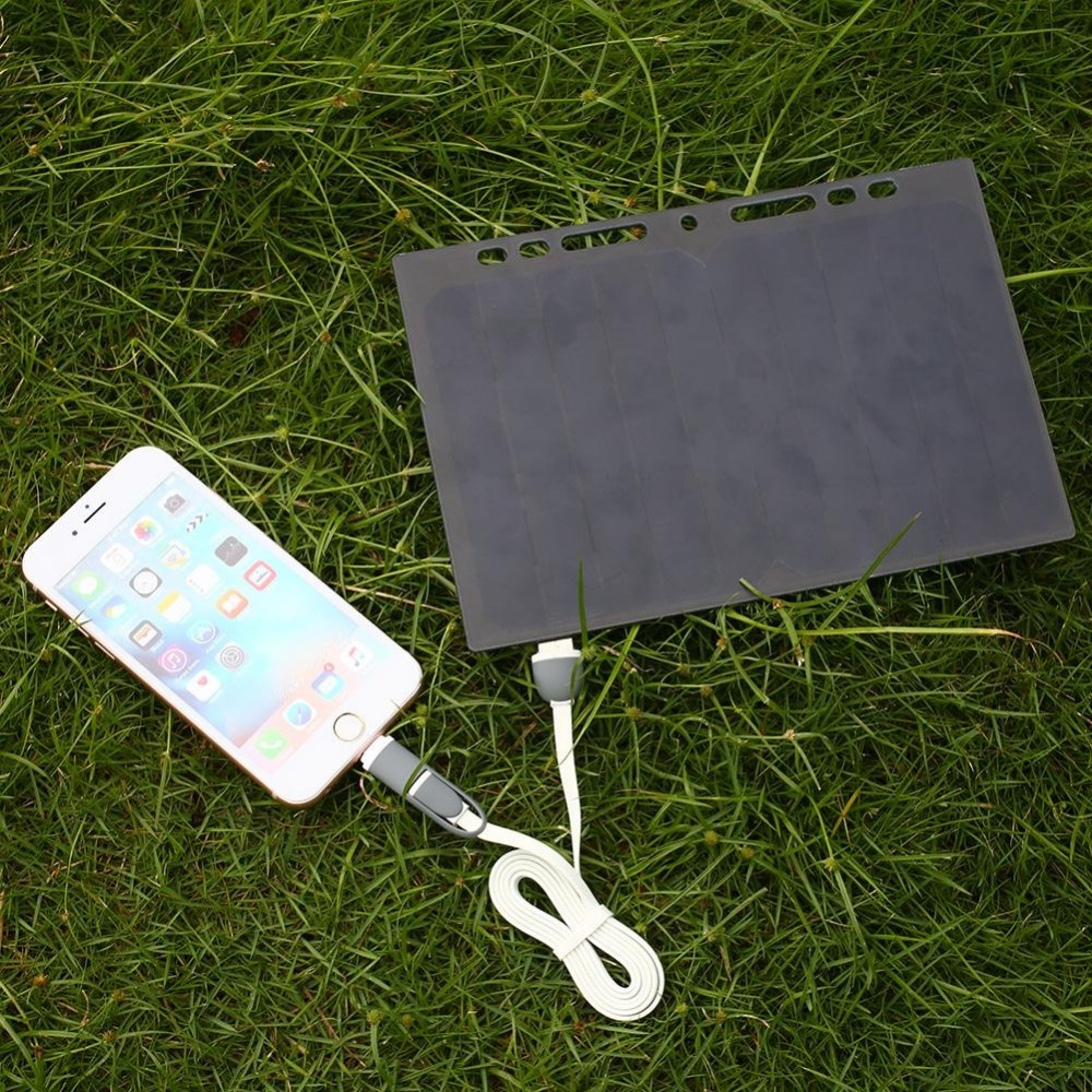 ΞMvpower 5 V 5 W energía solar del folleto A5 cargador USB para ...