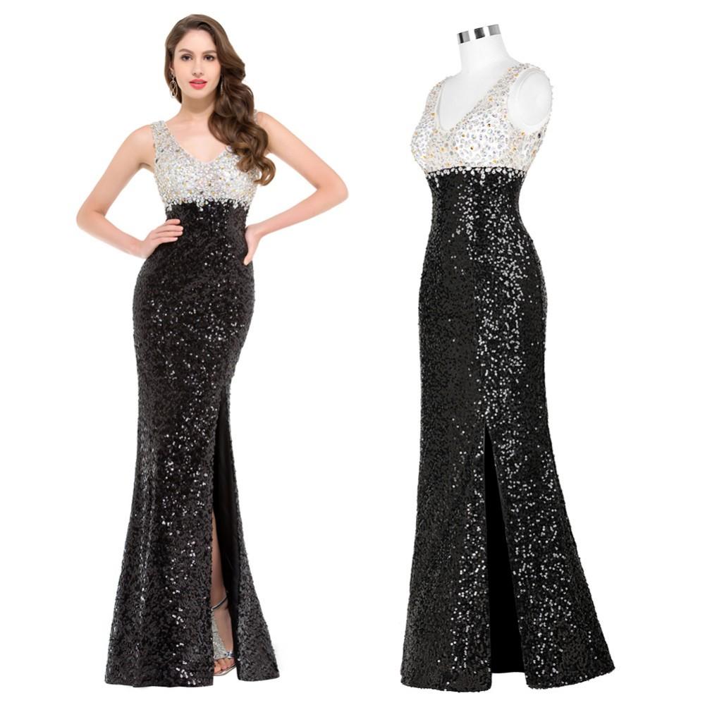 っBackless Skirt slits Sequins Prom Dresses 2018 New Style crystal ...