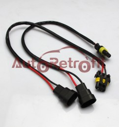 extension wire 9006 hb4 hid xenon headlight wiring harness plug play [ 1000 x 1000 Pixel ]
