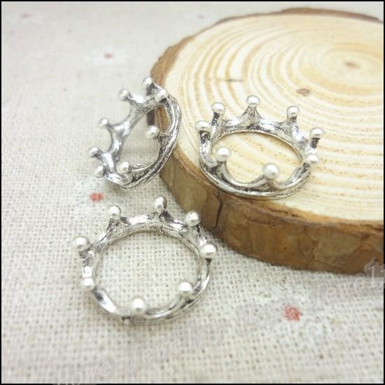 Wholesale 50//100//500pcs Tibétain Argent Ovale Fleur Spacer Perles 9x6 mm