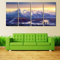 4 Pcs Large Canvas Print Painting For Living Room, Wall ...