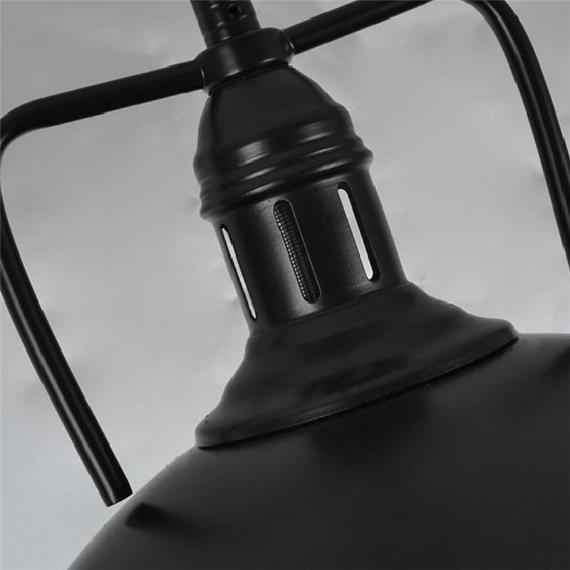 ⑥Industrial negro/blanco Lámparas colgantes hierro forjado cocina ...