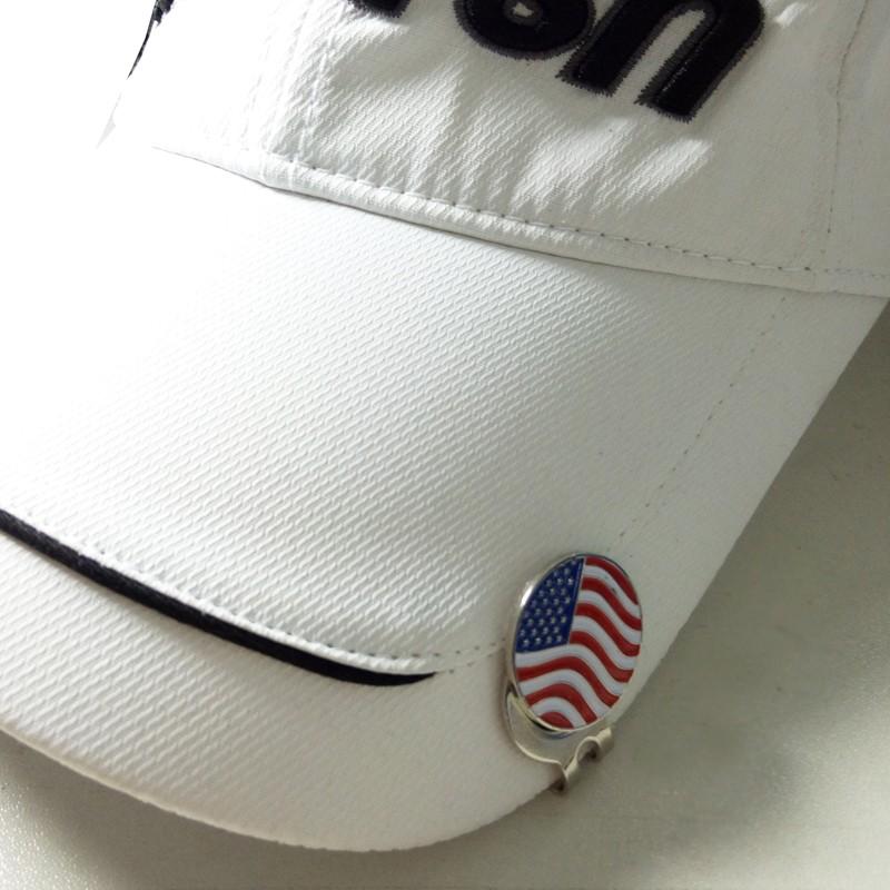 っClip del sombrero del Golf, patrón de la bandera nacional, clip ...