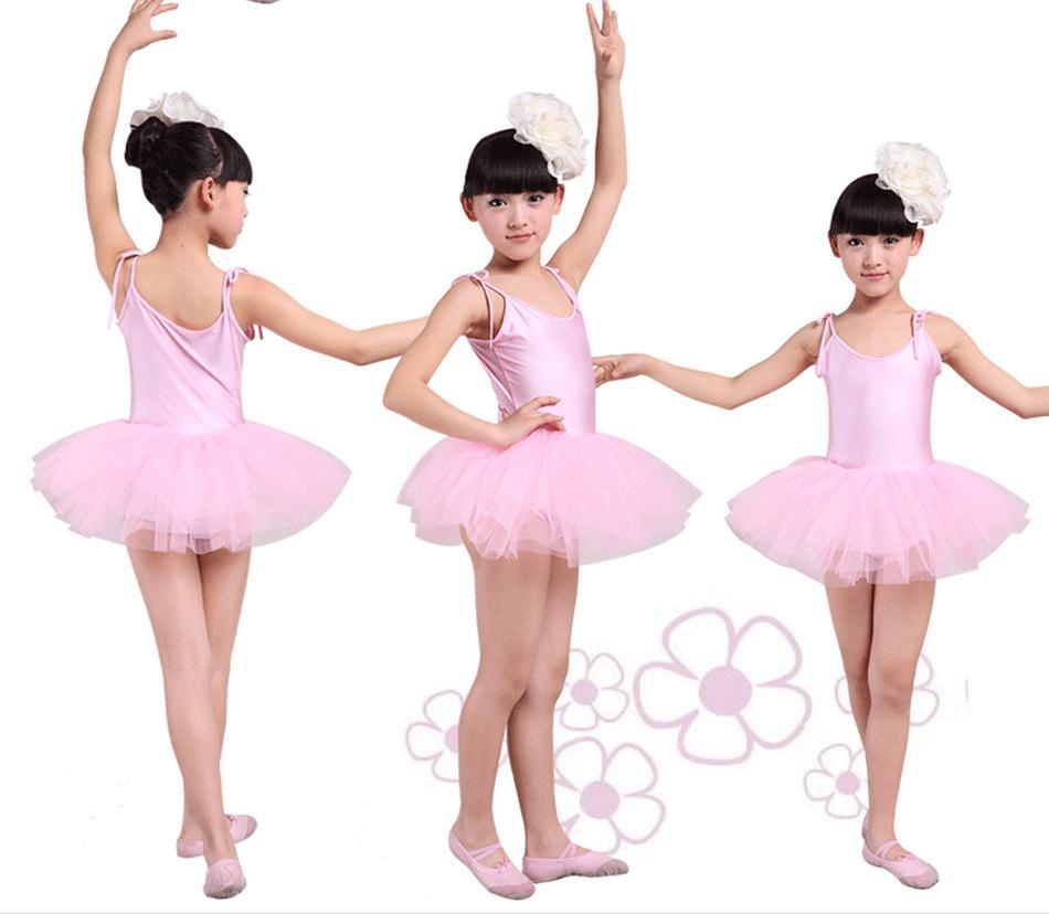 80d332f5c7c7 NºWhite red pink blue Ballet Dress For Children Gauze Gymnastics ...