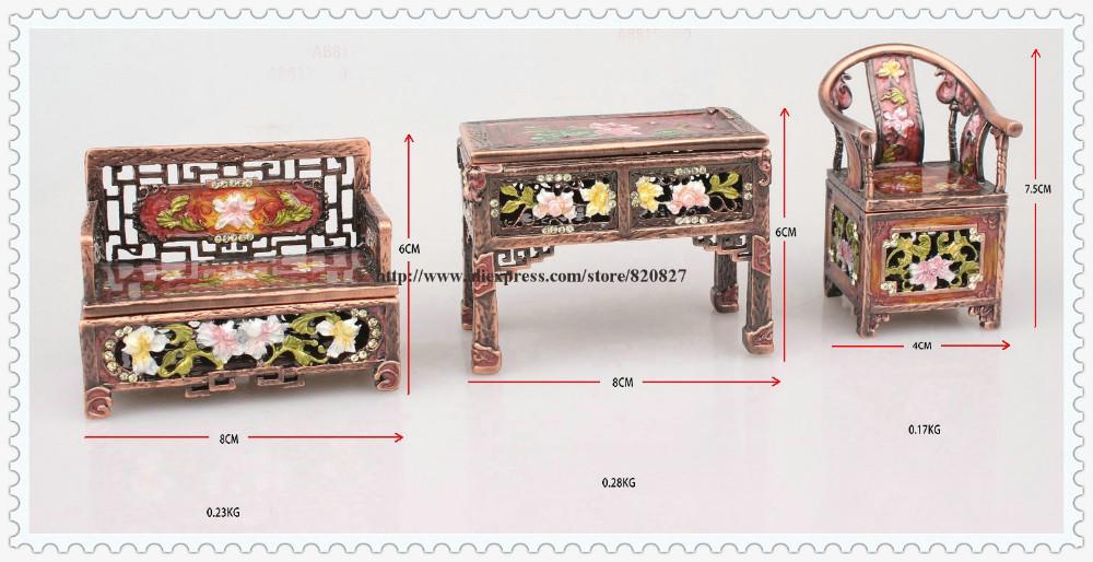 Clásico Asian Muebles tesoro joyería caja organizador pecho trinket ...