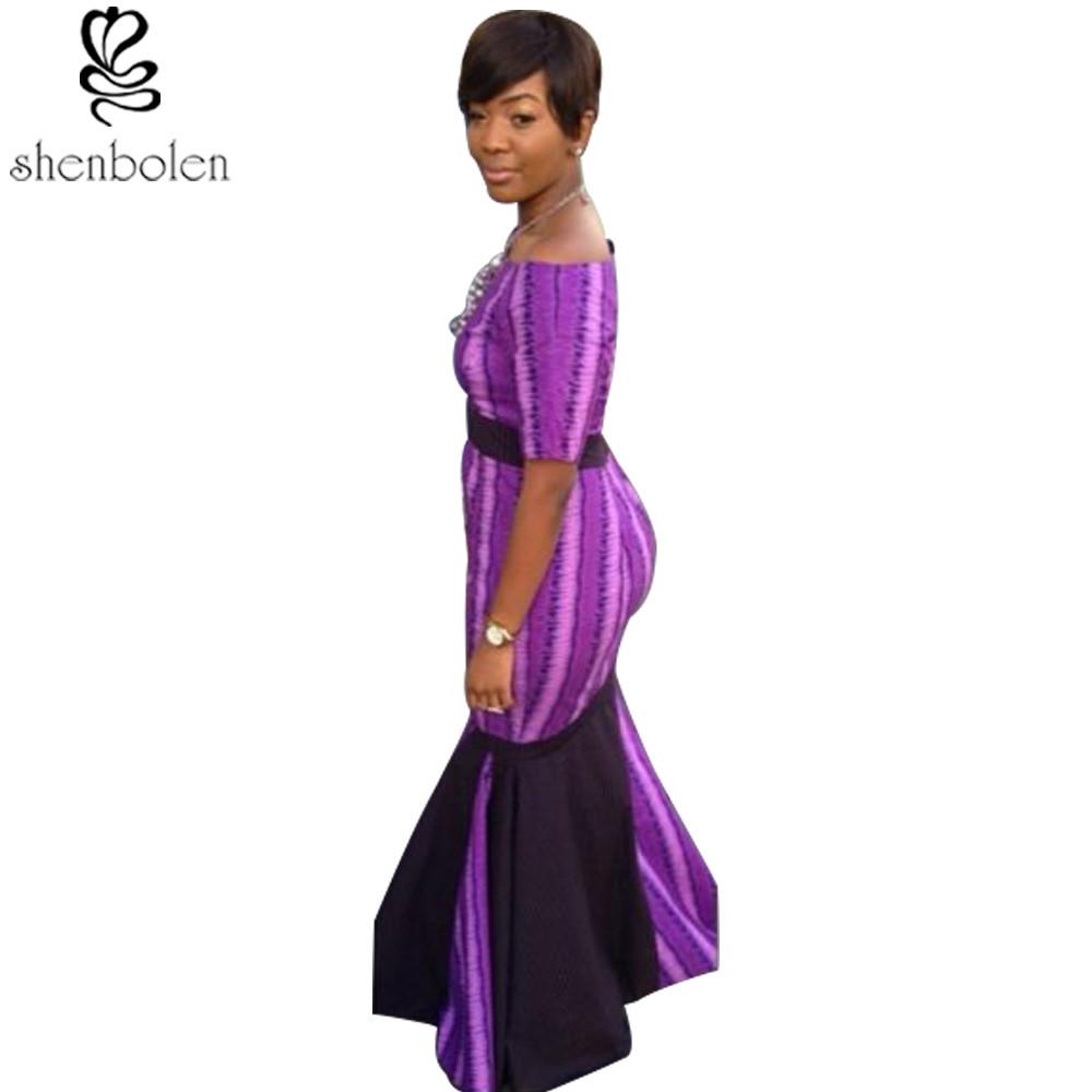 ₪2016 vestidos africanos para las mujeres Ankara punto de costura ...