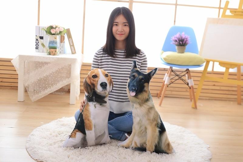 Big Size 50cm 3d Dog Pillow Decorative Dog Pillow Cushion Nap Pillow
