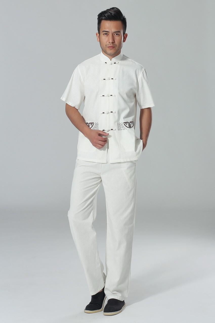 ₪Shanghai historia de Kungfu chino para hombres tai chi traje Camisa ...
