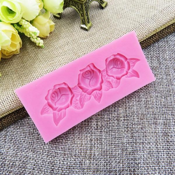3 Roses Cake Border Mold Fondant Decorating Lace
