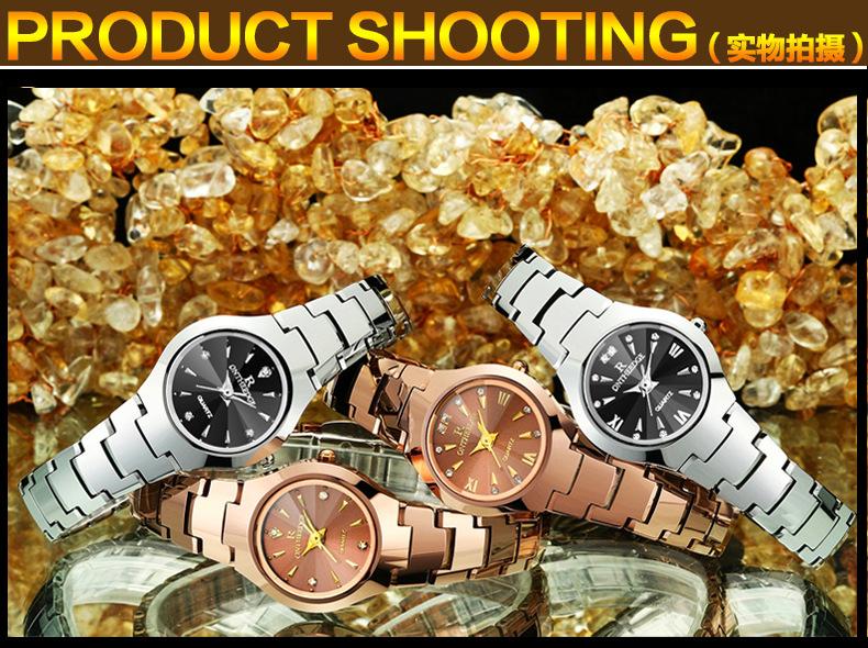 0acd7a145ab Moda dos homens de aço inoxidável relógio de pulso à prova d  água homem de Negócios  calendário relógios De Quartzo Diamante luxo marcas de relógios ...