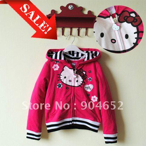 Brand new! 2012 Hello Kitty hoodies children spring