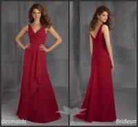 Dark Red Bridesmaid Dresses