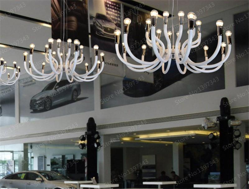 Blanc Fer Araignée De Luxe Led Lustres Moderne Luminaires Design