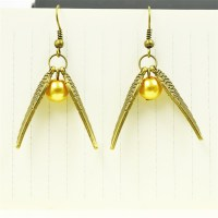 quidditch gold snitch drop earrings vintage retro antique ...