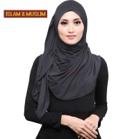 FREE SHIPPING muslim shawl plain long turban lycra dubai ...