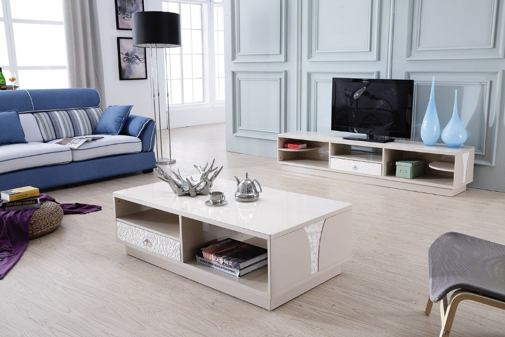 Lizz contemporary white living room furniture TV stand and