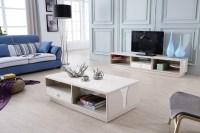 Lizz contemporary white living room furniture TV stand and ...