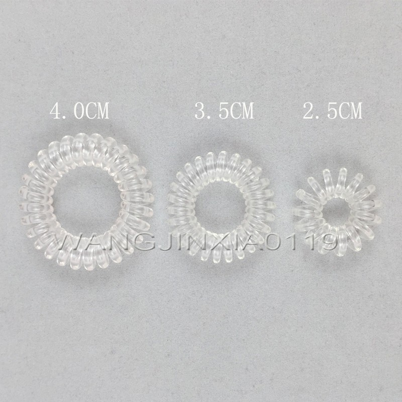 4pc/pack Telephone Line Elasticity Rubber Crystal Hair