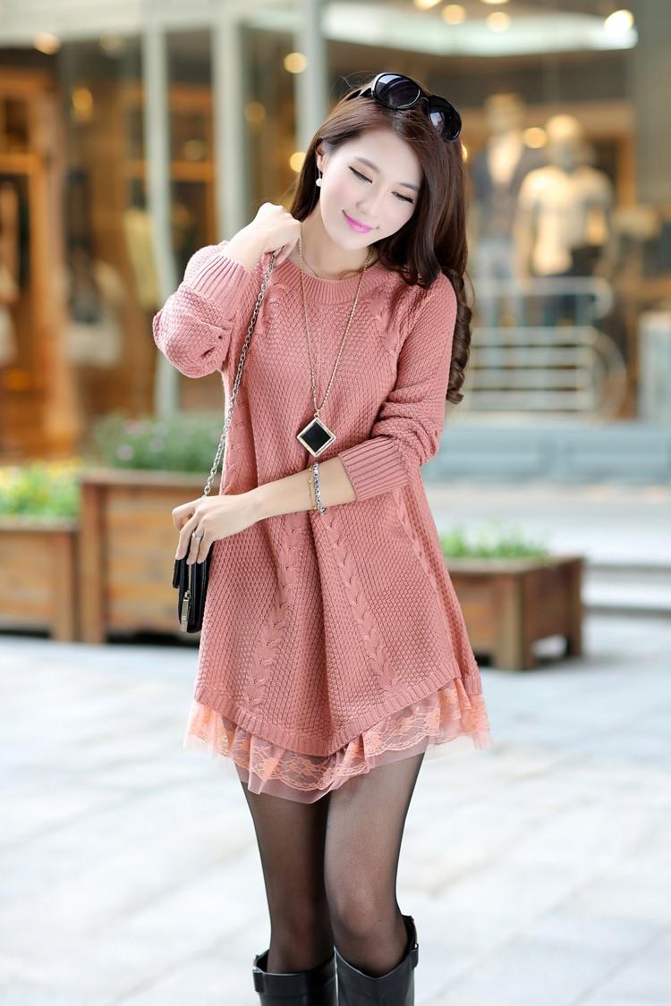 Φ_ΦMaternidad ropa Otoño Invierno Jersey de punto color sólido ...
