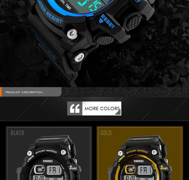 35ccbbdabddf ᗛNuevo 2017 hombres LED Relojes digitales multifunción cronógrafo ...