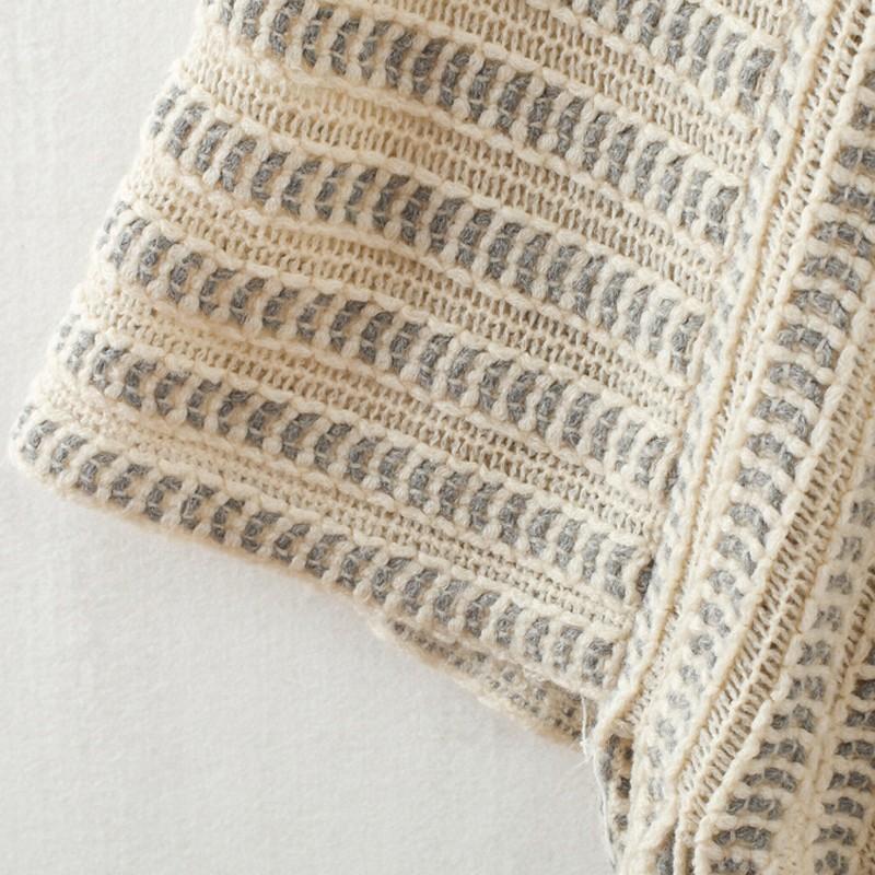 V-cuello de las mujeres poncho Batwing borla tejida manto mantón ...