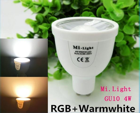 ①dimmable milight led lamp 2.4g wifi controller gu10 e27 4w 6w 9w