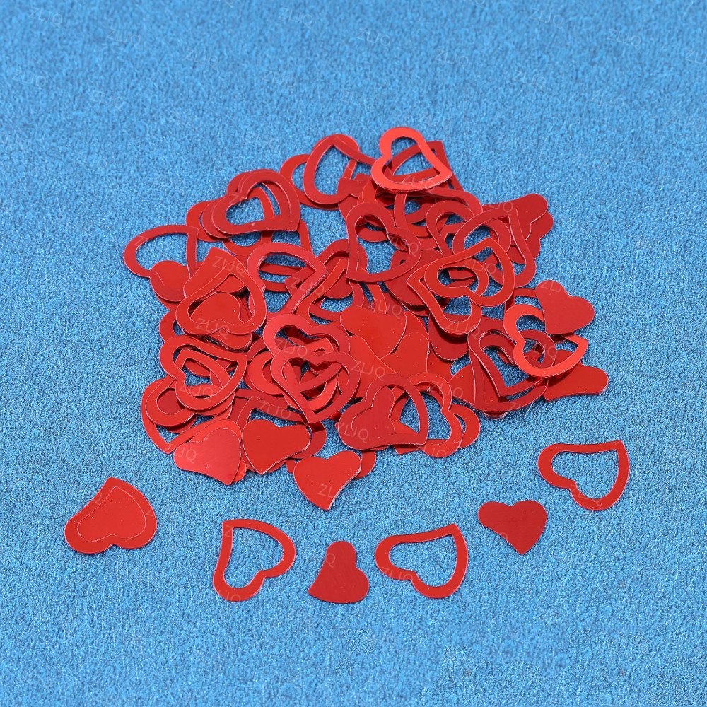 ᗑ】ZLJQ 650pcs Hollow Love-heart Confetti Wedding Party Table Decor ...