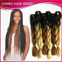24inch ombre kanekalon braiding hair extensions jumbo ...