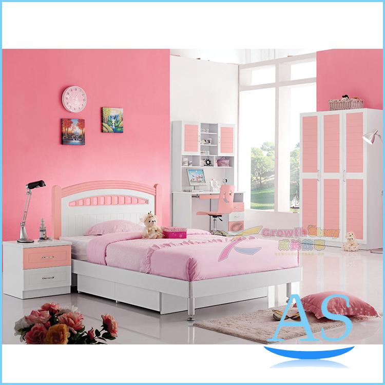 2015 China modern lovely kids bedroom furniture girls