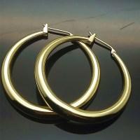 18k gold plated hoop earrings rose yellow gold hoop ...