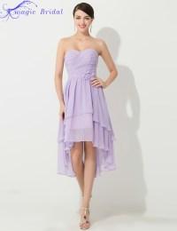 Vestido De Madrinha Plus Size Cheap Purple Short Chiffon ...