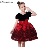 2016 Formal Dress for Girls Bowknot Short Sleeve Patchwork ...