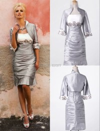 Cheap Silver Knee Length Mother of the Bride Dresses 2015 ...