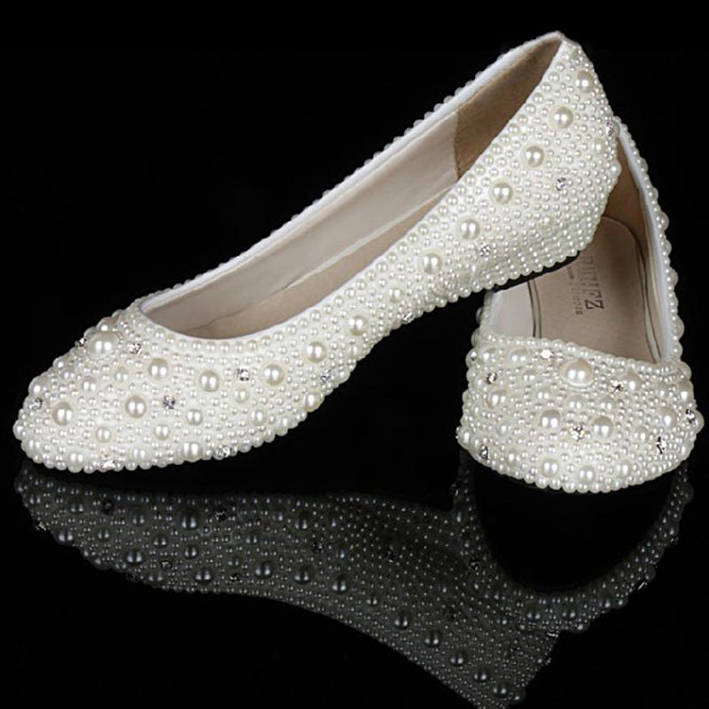 Ivory Wedding Shoes Wedge Heel