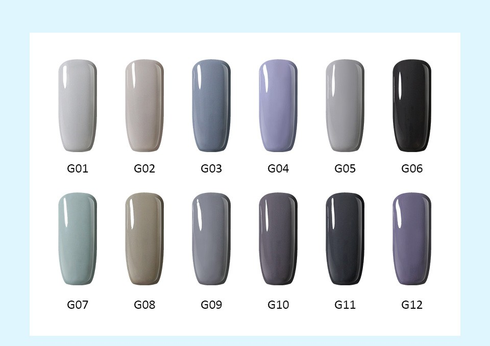ᐂBELLE FILLE 10ML Blue color UV nail gel manicure lacquer home DIY ...