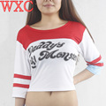 Harley Quinn Suicide Women Clothes Batman Suicide Squad Harley Quinn Cosplay Tops Tee WXC
