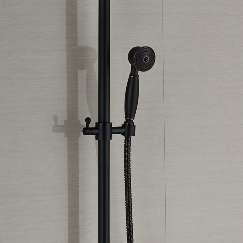 ▽Oil-rubbed Bronze 8 Square Rainfall Showerhead Wall Mount Shower ...