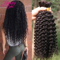 Soft Malaysian Kinky Curly Virgin Hair Human Braiding Hair ...
