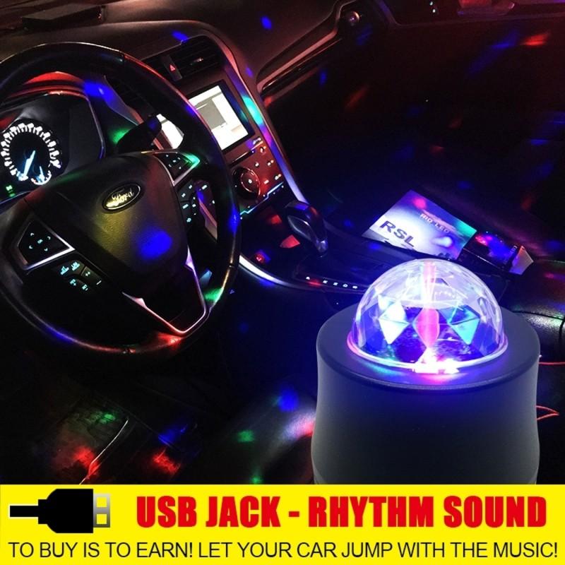 ⃝RGB LED coche atmósfera luces música ritmo activado Auto ...