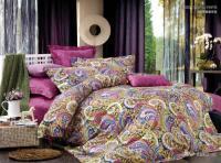 Egyptian cotton pink paisley satin luxury bedding ...