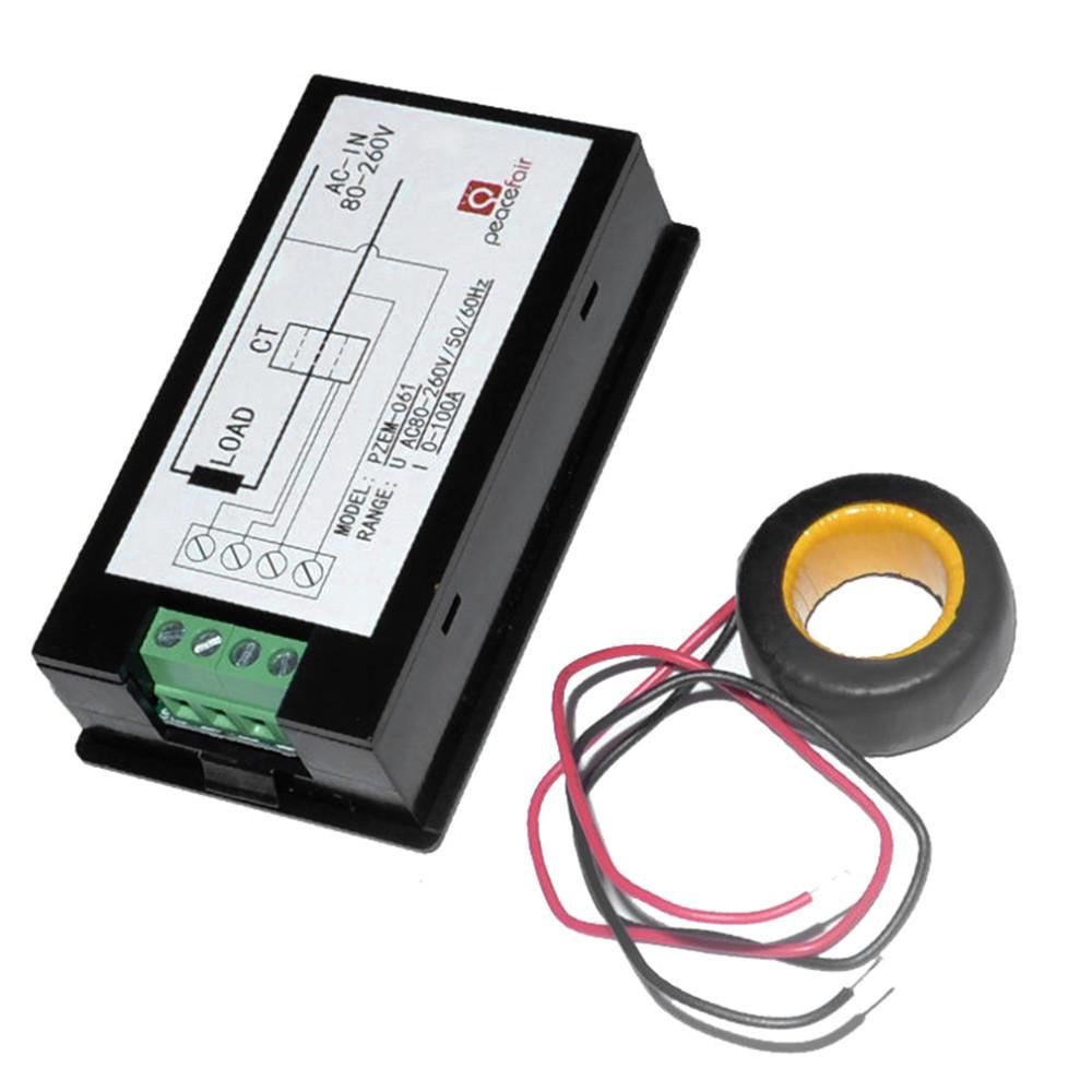 022 100 A AC Digital Meter Power Energy Tension de test actuelle avec fermeture Pzem