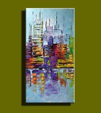 Abstract modern large canvas wall art Handpainted colorful ...