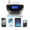 Wireless 3 5mm Car LCD Display FM Transmitter Audio Radio fm Transmitter for Smart Mobile Phone