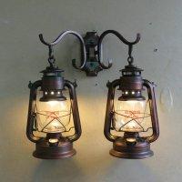 American antique fashion iron wall lamp american kerosene ...