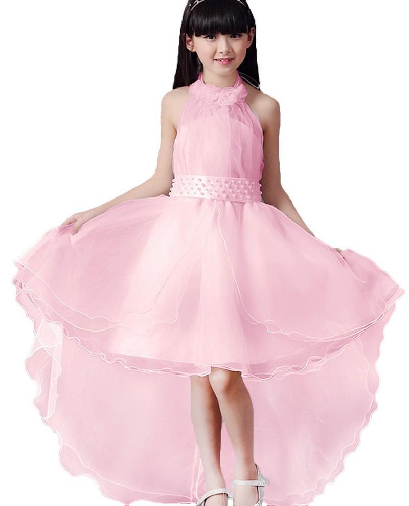 ᗐ2017 de alto grado de la muchacha de flor boda rendimiento traje ...