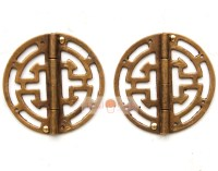 2 Brass hinges for Jewelry Box Chinese Style Hardware ...